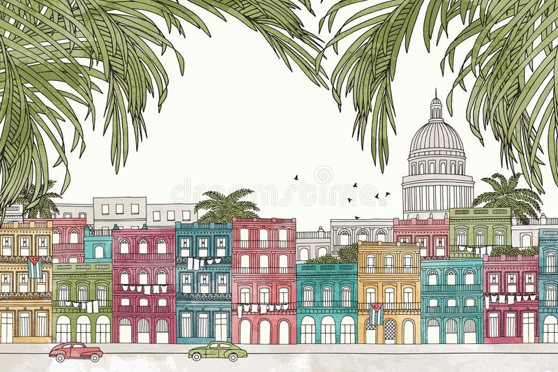 Havana, Cuba royalty-vrije illustratie