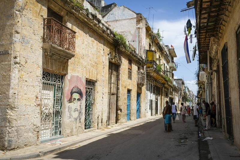 Havana Cuba anziana del centro fotografia stock