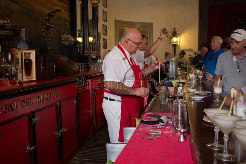 Havana, Cuba - April 13, 2017: El Floridita is a historic cocktail bar in the older part of Havana, Cuba. royalty free stock photos