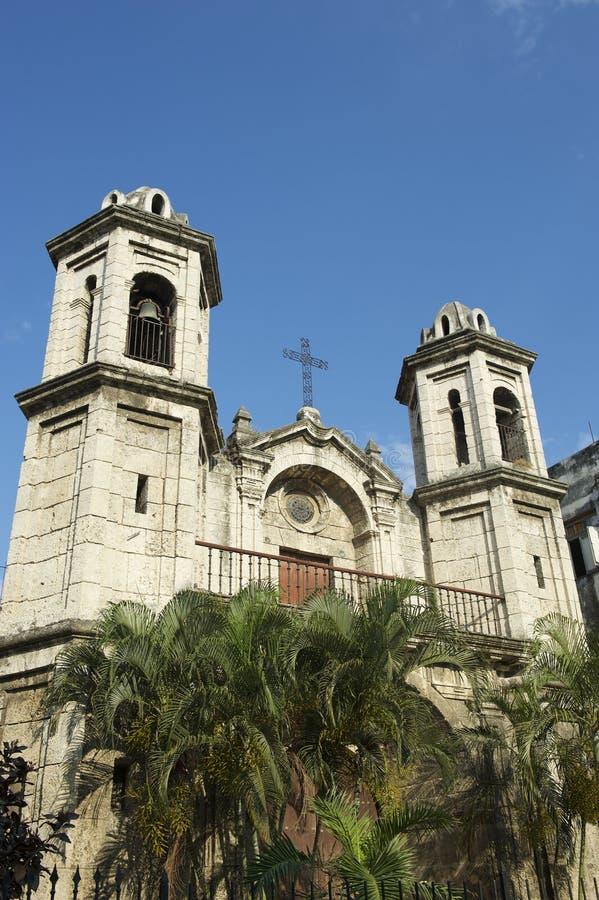 Havana Cuba Church Architecture Towers arkivfoto