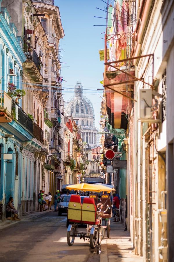Havana, Cuba, El Capitolio royalty free stock photography