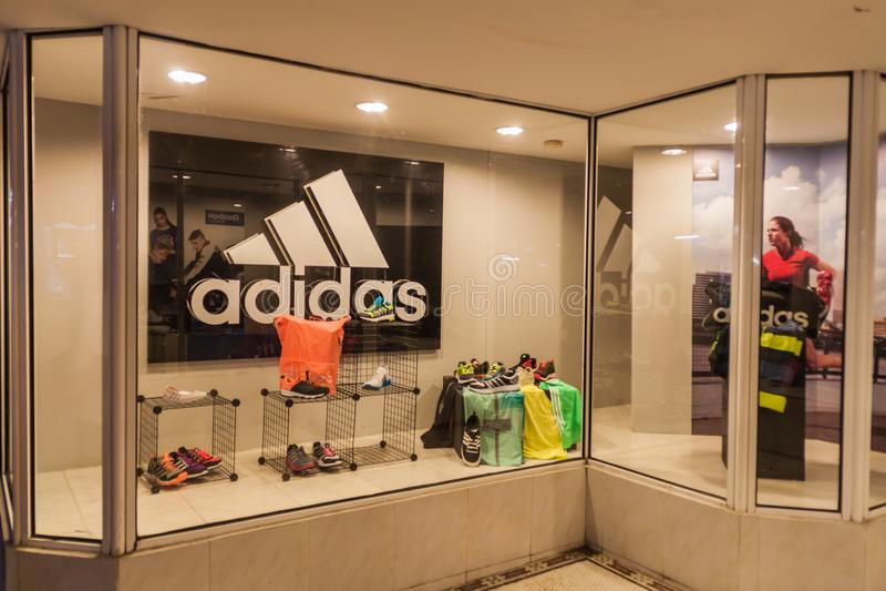 HAVANA, CUBA - FEB 20, 2016: Adidas brand store in the center of Havana stock photo