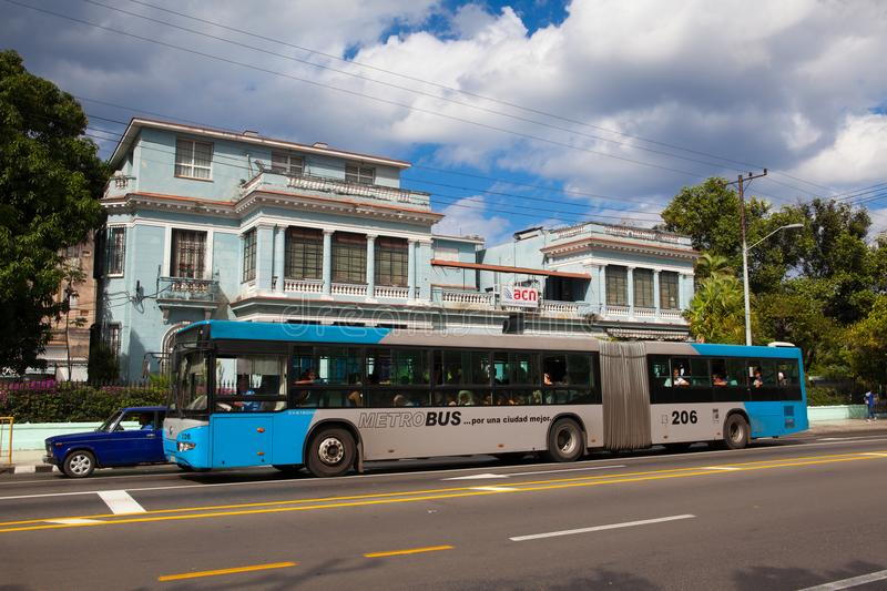 Typical public bus in Havana stock images