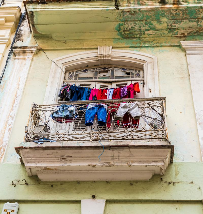 A typical view in Havana in Cuba royalty free stock photo