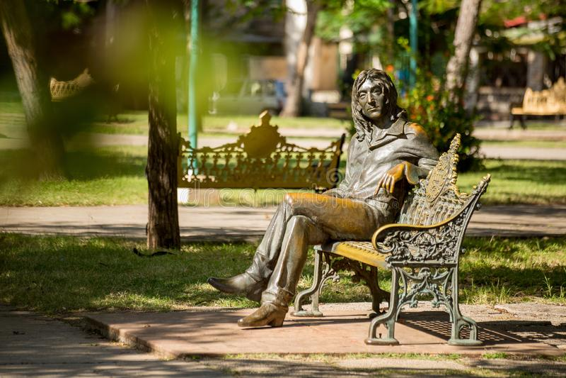 Havana, Cuba - November 30, 2017 - John Lennon statue in Havana, Cuba stock image