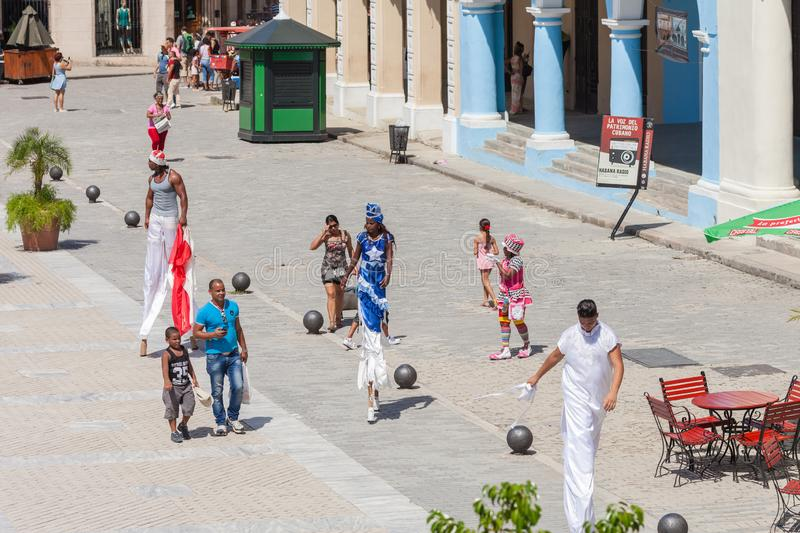 Old Square Plaza Vieja in Havana stock images