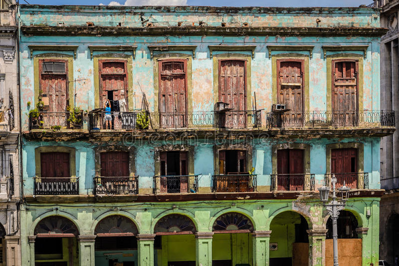 Havana Cuba. Old house in the center 0f Havana,cuba stock image