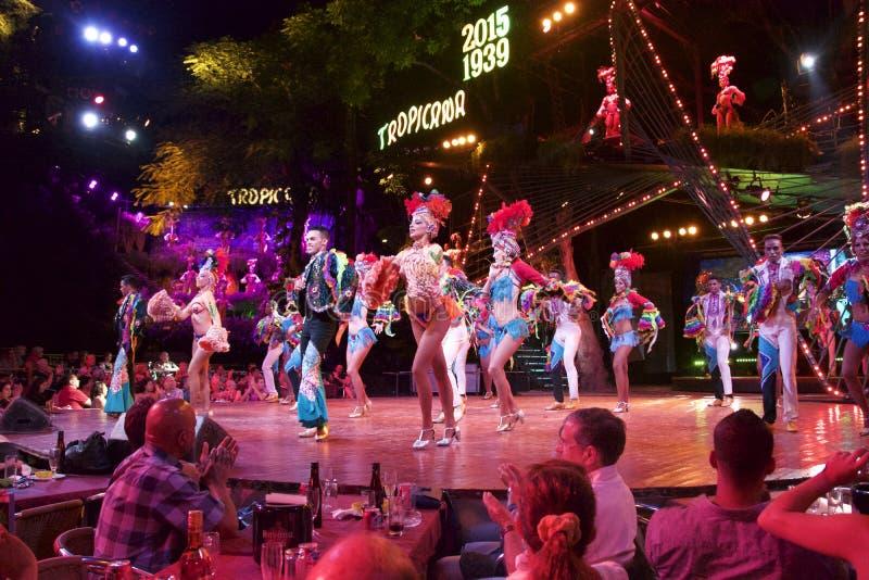Havana Cuba Tropicana-nachtclub royalty-vrije stock foto's