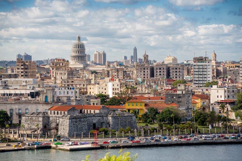 Havana, Cuba Vista panorâmico foto de stock