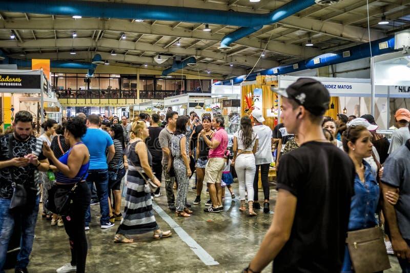 World Craftwork Fair of Havana 5. HAVANA - DECEMBER 16 2017 - FIART, World Craftwork Fair, gather artists and exhibitors from Cuba and worldwide every december stock images