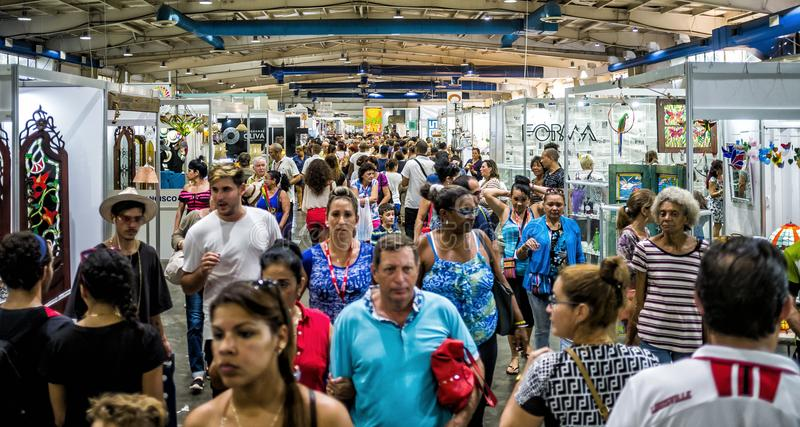 World Craftwork Fair of Havana 3. HAVANA - DECEMBER 16 2017 - FIART, World Craftwork Fair, gather artists and exhibitors from Cuba and worldwide every december stock photo