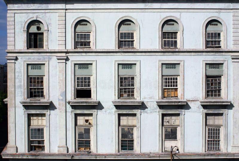 Havana Factory Windows royalty free stock photos
