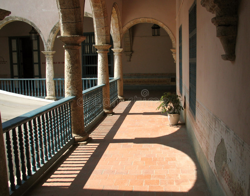Havana-Gebäudeinnenraum lizenzfreies stockfoto