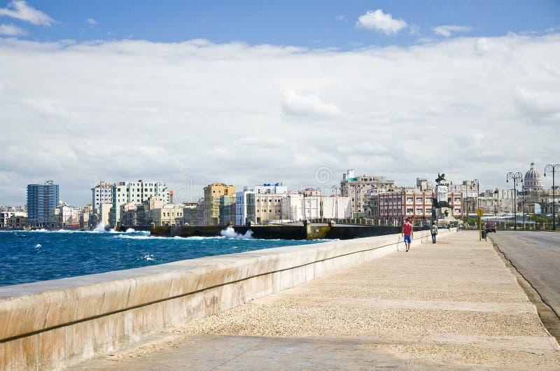 Havana Malecon lizenzfreie stockbilder