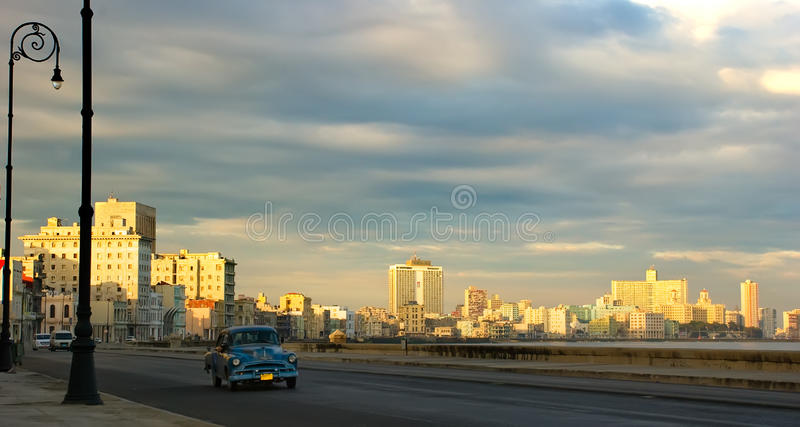 Havana malecon in the morning stock photography