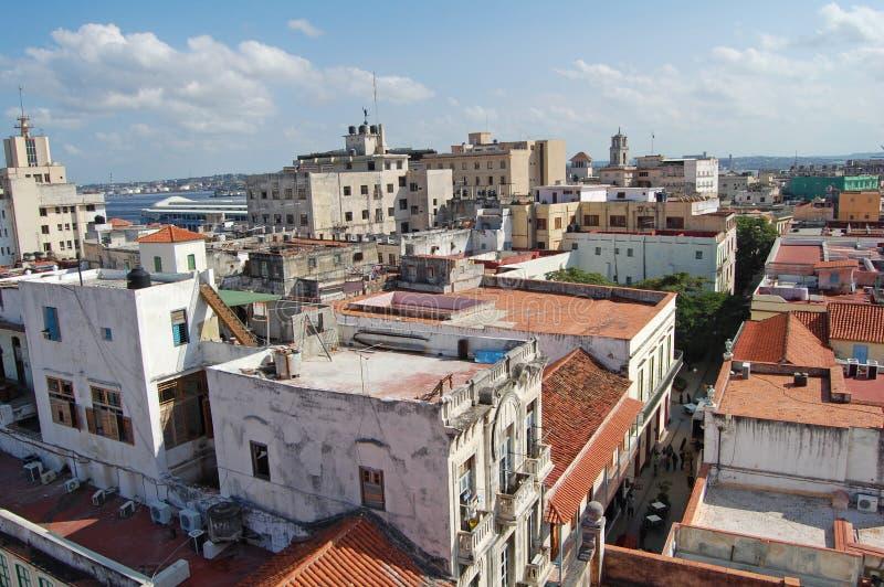 havana rooftops royaltyfri fotografi