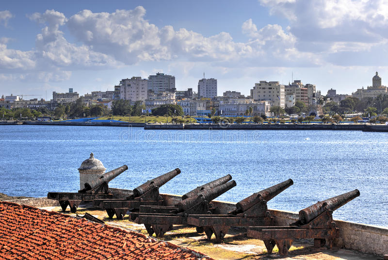 Havana skyline, Cuba royalty free stock photography