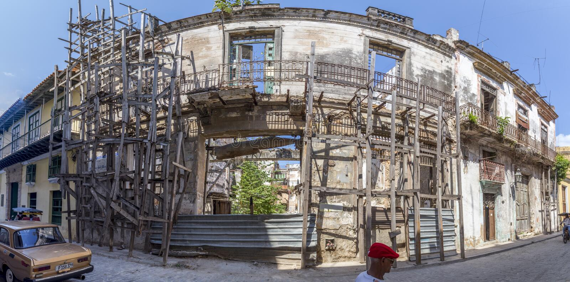 Havana Steet scene-3 lizenzfreie stockfotos