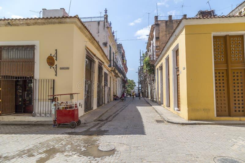 Havana Steet scene-2 lizenzfreies stockfoto