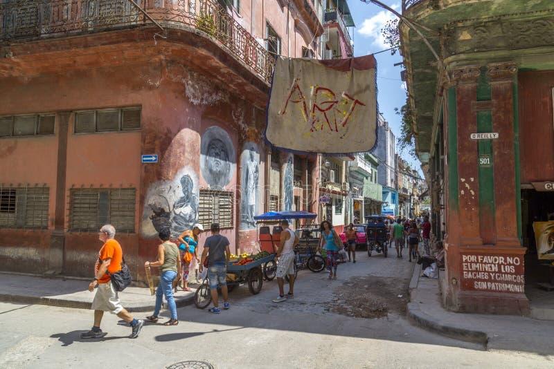 Havana Steet scene-41 stockfotografie