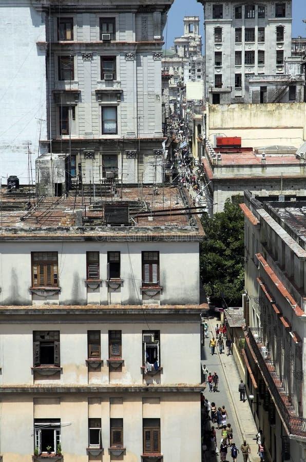 Havana-Straßen stockfoto
