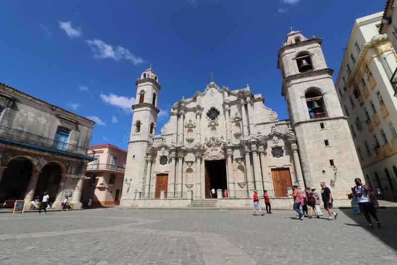 Havannacigarrgata, i Kuba royaltyfri bild