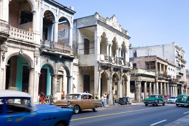 Havannacigarrgata, Kuba royaltyfri bild