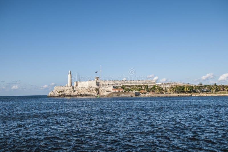 Havannas fyr, Kuba El Morro royaltyfria foton