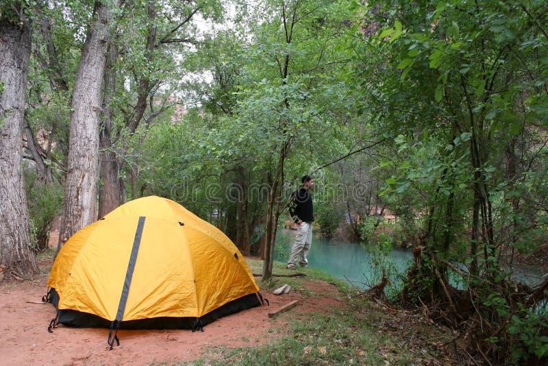 Havasu Falls Campground stock photo