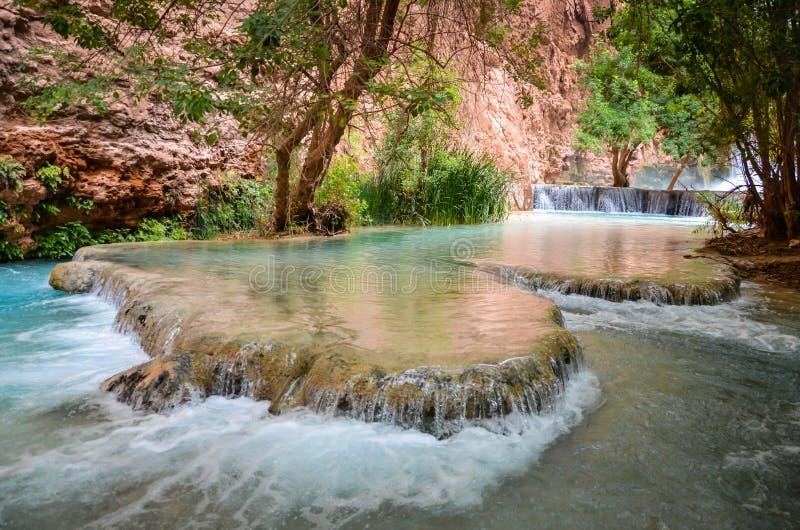 Havasupai vattenfall - Hualapai stam- länder - Arizona royaltyfria foton