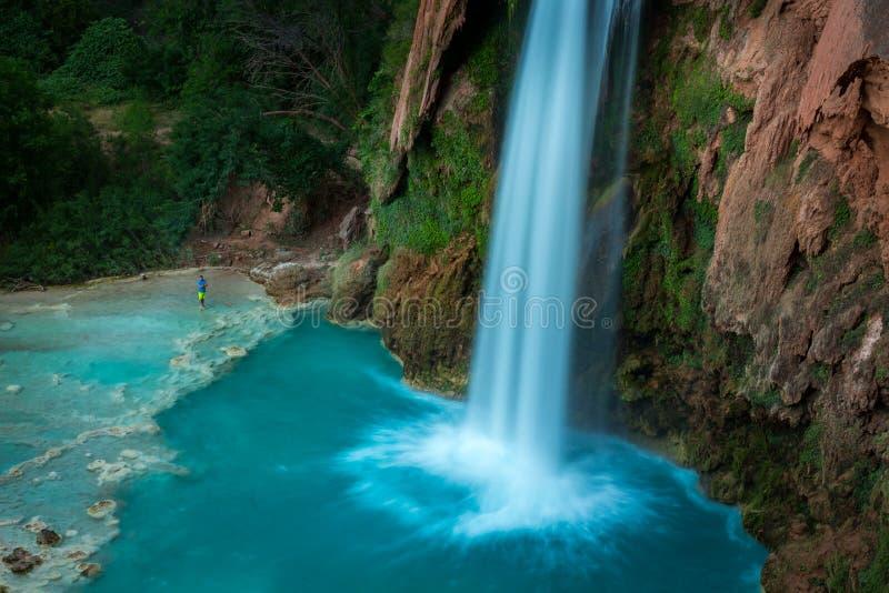 Havasupai Waterfalls in Arizona. Havasupai Waterfalls in Arizona, an amazing hidden gem royalty free stock image