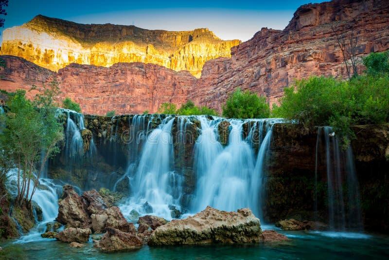 Havasupai Waterfalls in Arizona. Havasupai Waterfalls in Arizona, an amazing hidden gem stock photos