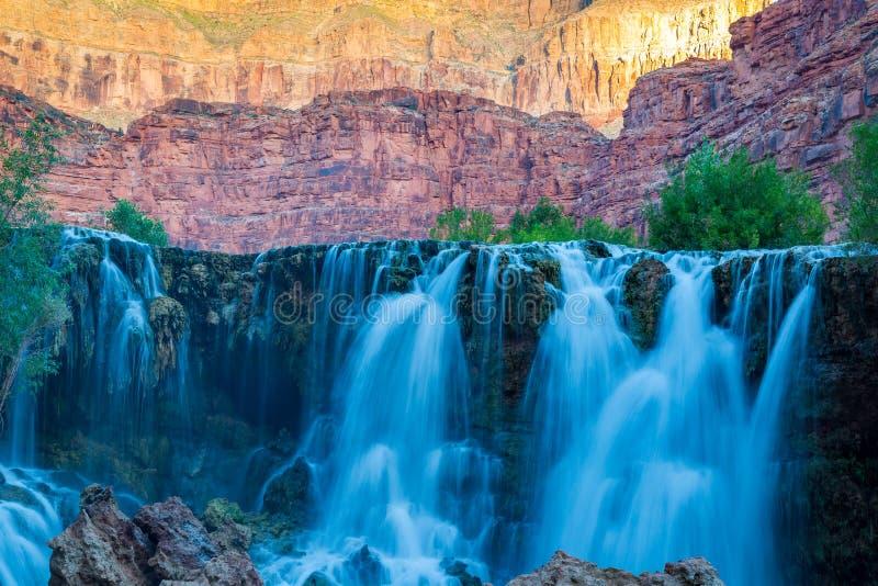 Havasupai Waterfalls in Arizona. Havasupai Waterfalls in Arizona, an amazing hidden gem royalty free stock photos