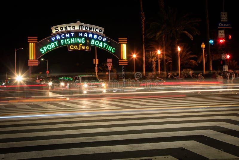 Havboulevard, Santa Monica, Kalifornien fotografering för bildbyråer