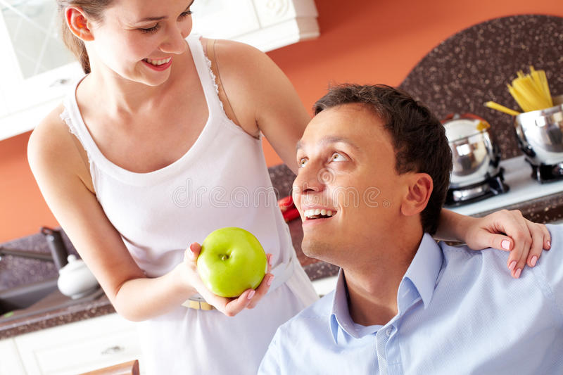Have an apple royalty free stock image