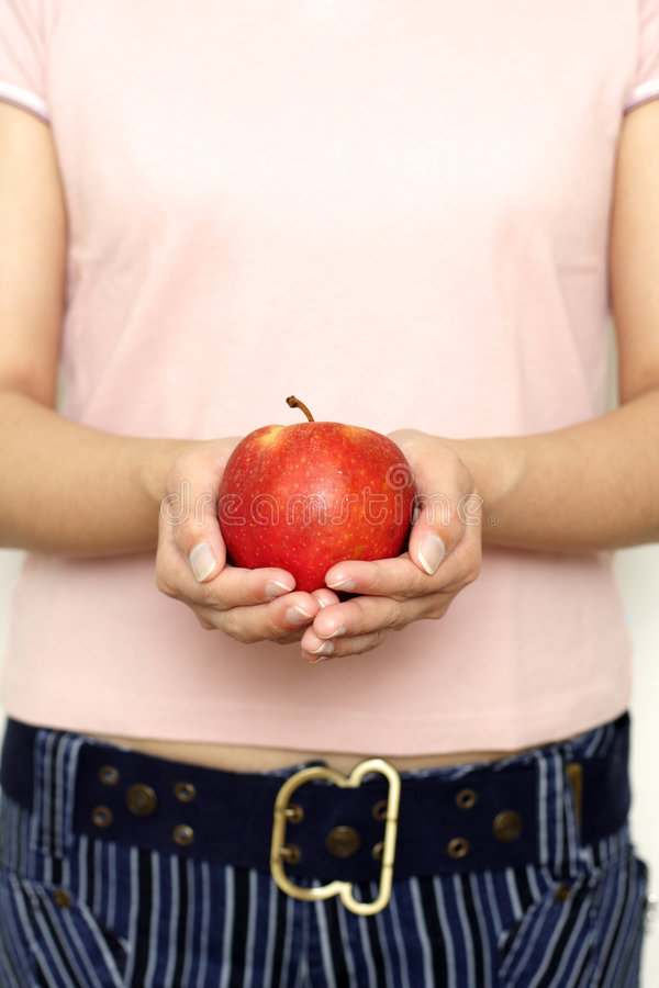 Download Have an apple stock image. Image of hold, diet, women, apple - 900203
