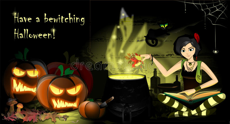 Have a bewitching Halloween royalty free illustration
