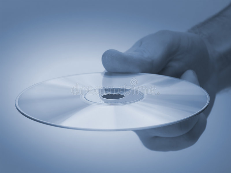 Have a CD royalty free stock photography