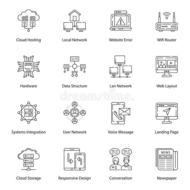 Server Network Line Vectors Pack. We have designed server network and line vectors to make your assignments easily editable and conceptually based. Grab and vector illustration