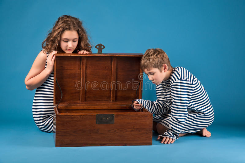 Have found a treasure royalty free stock image