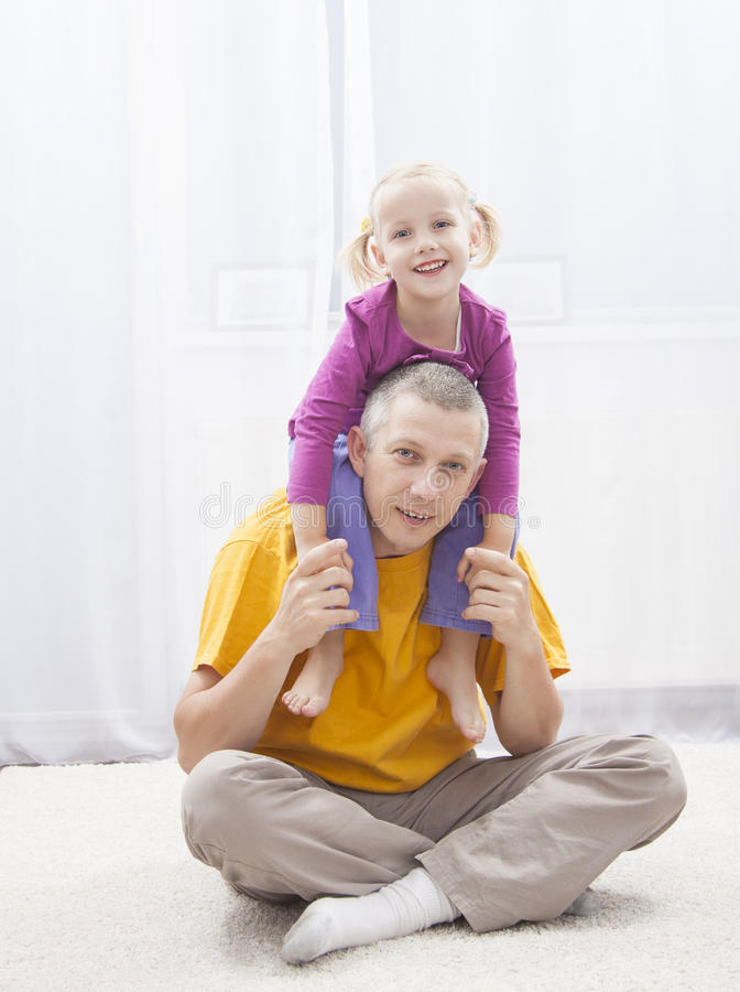 Have fun with father royalty free stock photo
