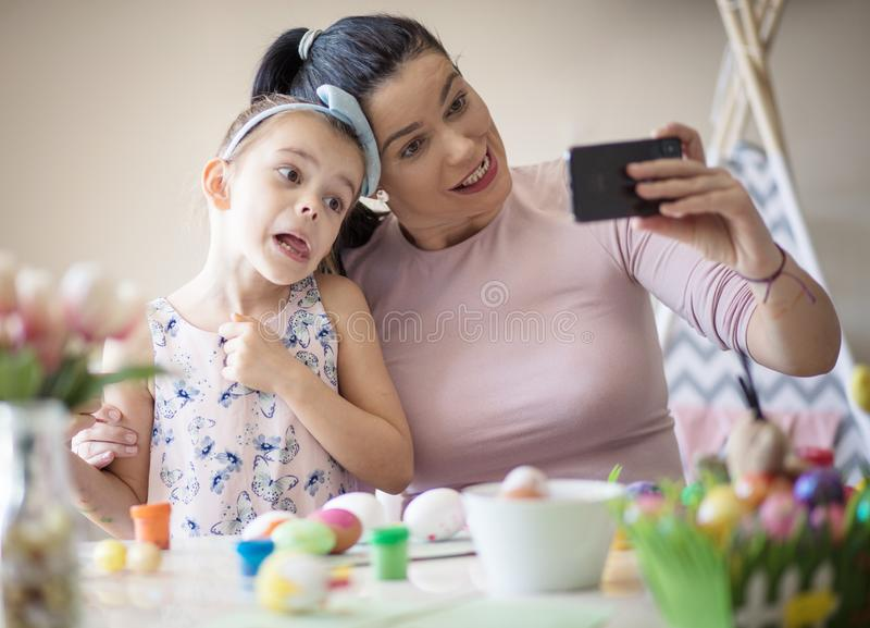 They always have fun when they are together royalty free stock photography