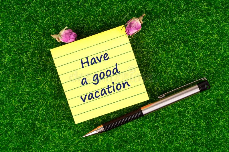 Download Have A Good Vacation Stock Image Of Handwrite