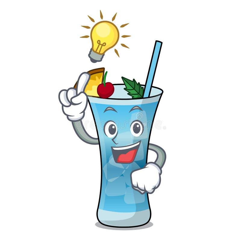 Have an idea blue hawaii mascot cartoon stock illustration