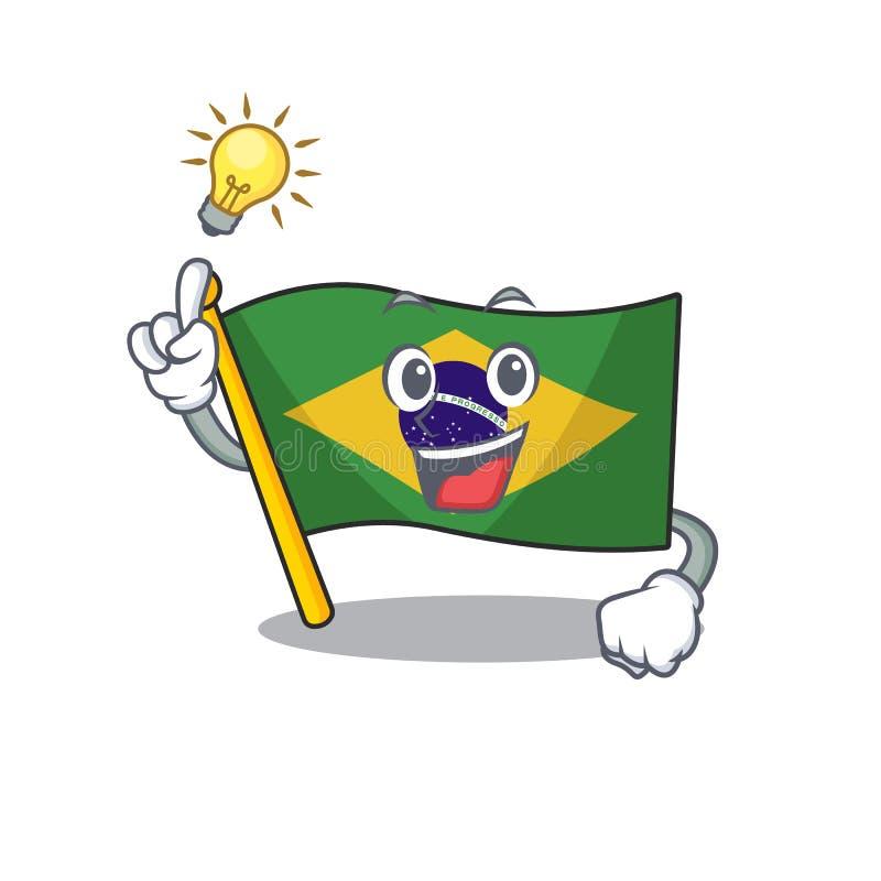 Have an idea brazil flag kept in mascot drawer. Illustration vector vector illustration