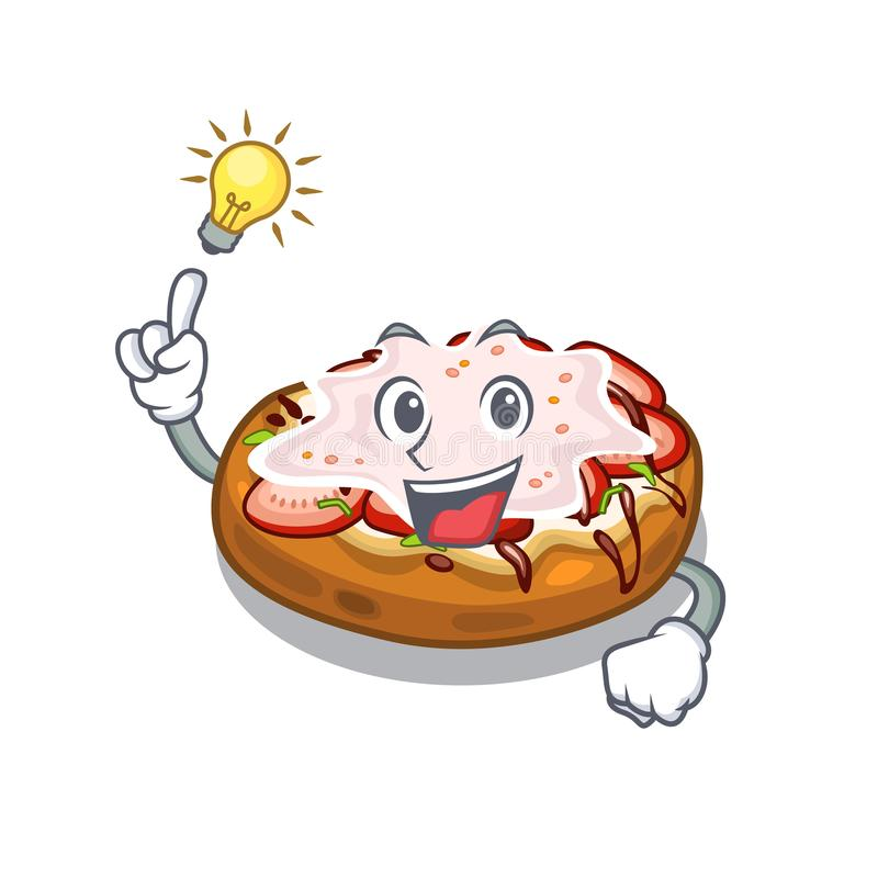 Have an idea bruschetta isolated with in the character. Vector illustration stock illustration