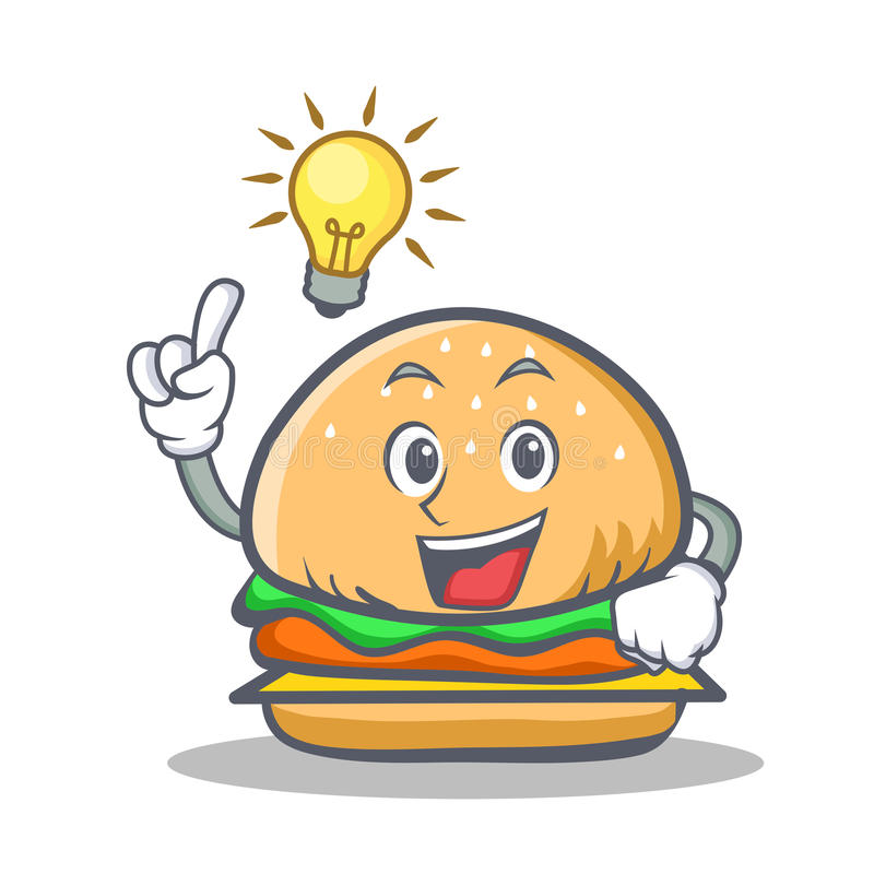 Have an idea burger character fast food royalty free illustration