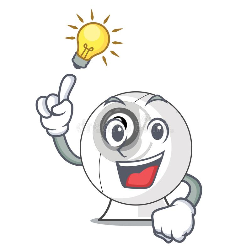 Have an idea cartoon webcam in funny that shape stock illustration