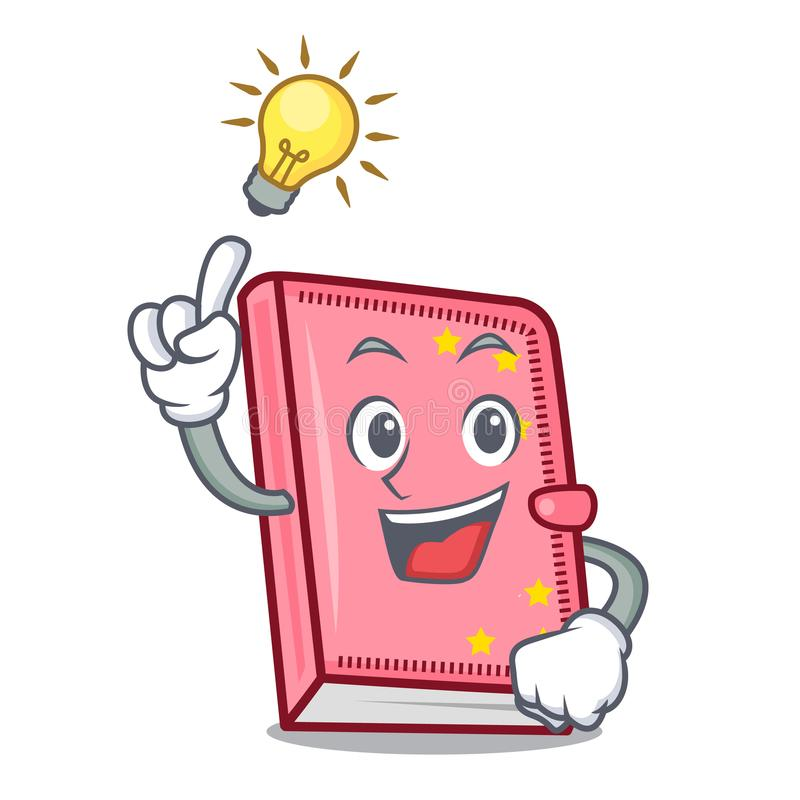 Have an idea diary mascot cartoon style vector illustration