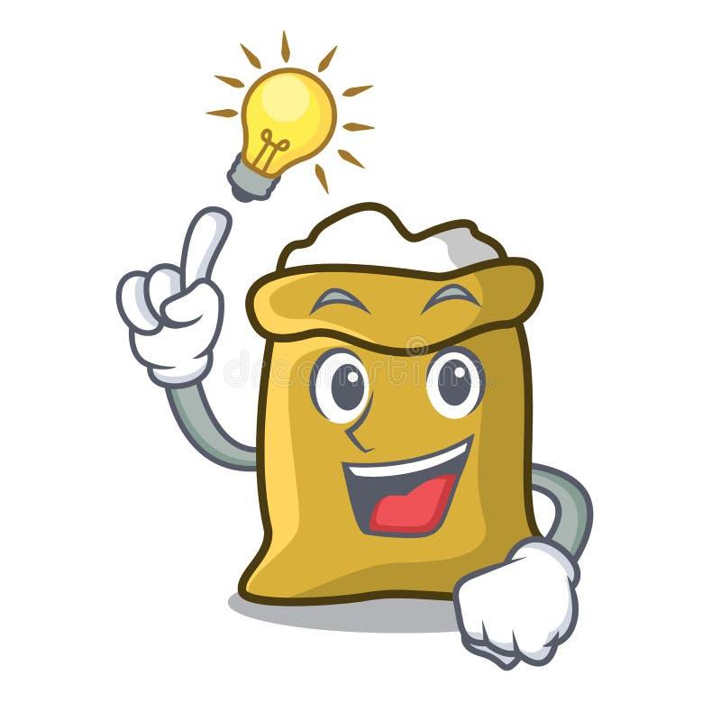 Have an idea flour mascot cartoon style. Vector illustration stock illustration